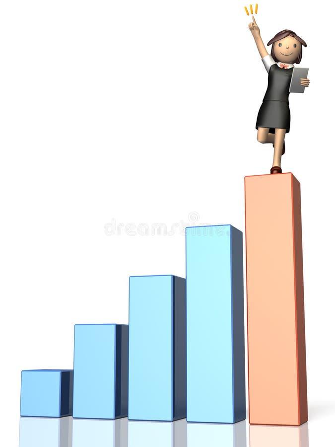 Elle a donné d'excellents résultats. illustration stock