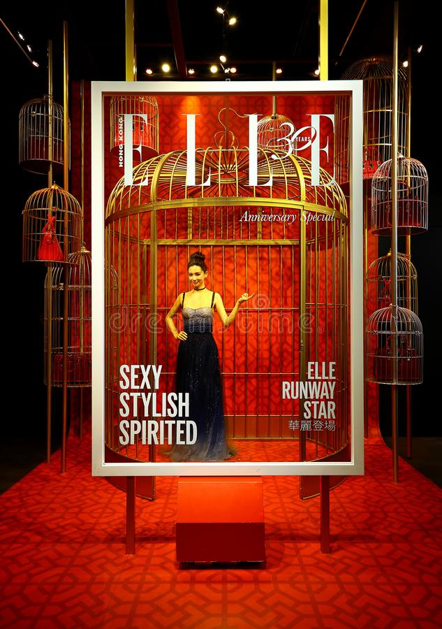 Elle hong kong 30th anniversary display at madame tussauds in hong kong royalty free stock photography