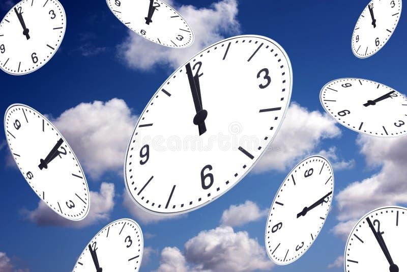 Elle a lieu au sujet du temps - une mn avant twelf illustration de vecteur
