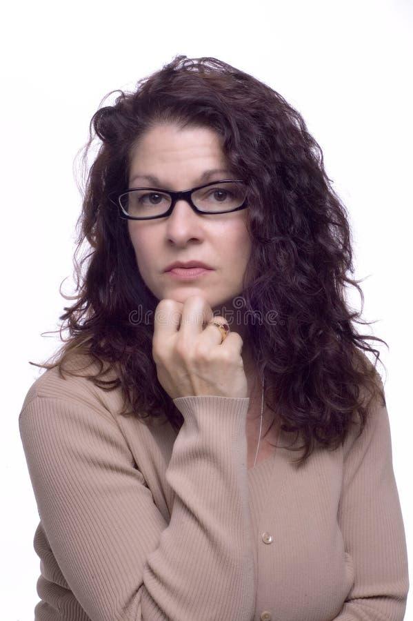 Elle Semble Intelligente ! Photos libres de droits