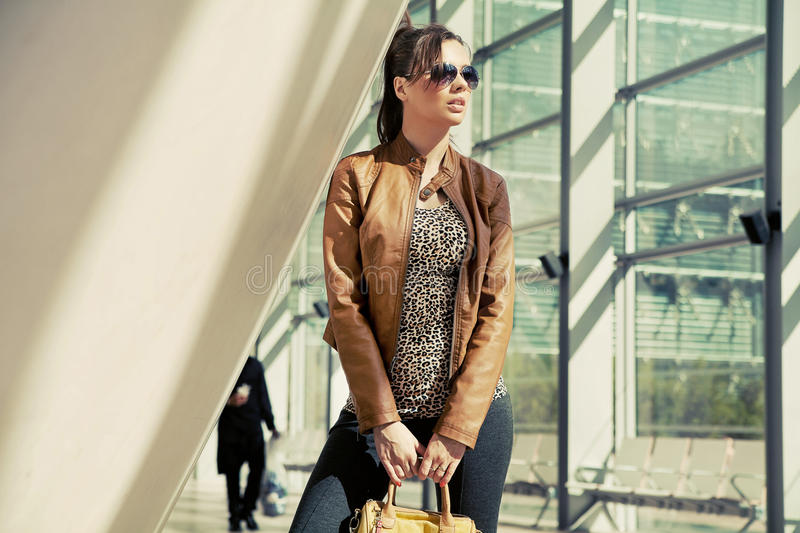 Download Ellegant Woman Holding A Bag Stock Photo - Image: 27375530