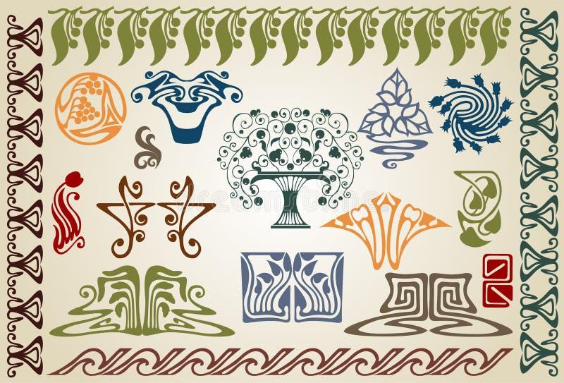 Ellements do noaveau da arte ilustração royalty free