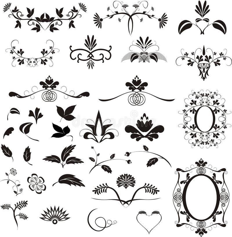 Ellements do projeto ilustração royalty free
