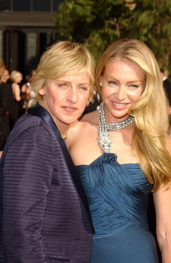 Ellen De Generes, Portia De Rossi royalty free stock photo