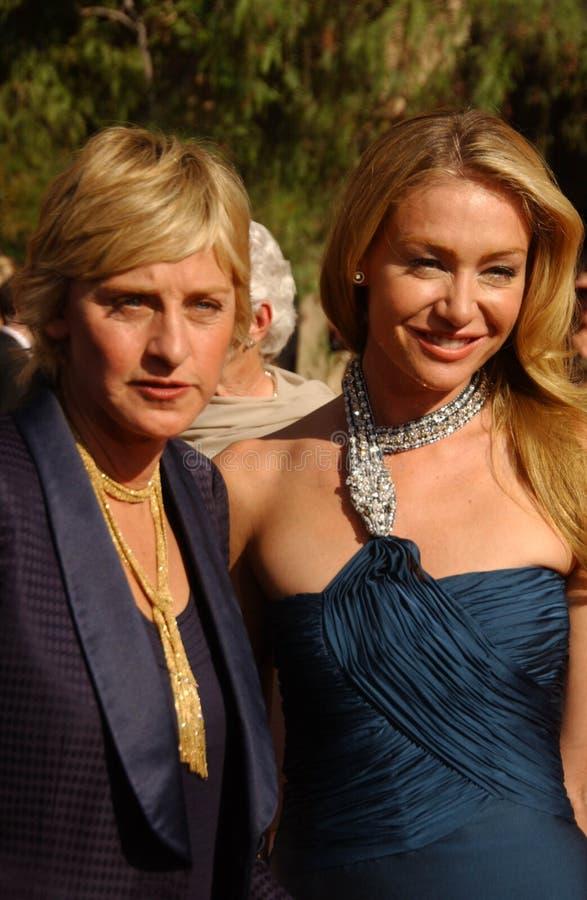Ellen De Generes, Portia De Rossi stock images