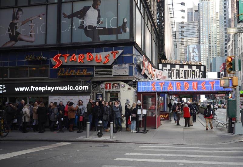 Ellen Stardust Diner w Midtown na Manhattanie fotografia royalty free