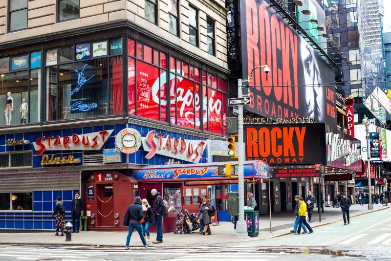 Ellens Times Square för Stardust matställe arkivbild