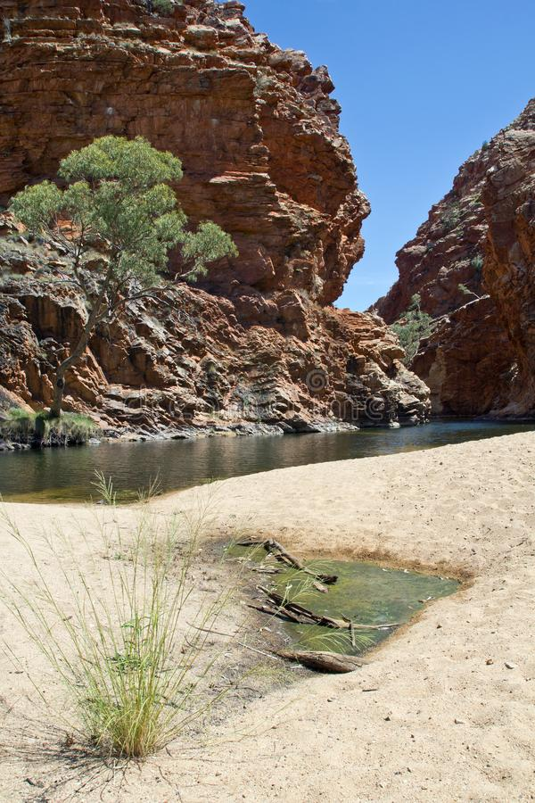 Australia, Ellery Creek Big Hole, West Mac Donnell National Park. Ellery Creek Big Hole near Alice Springs, Northern Territory, West Mac Donnell National Park stock images