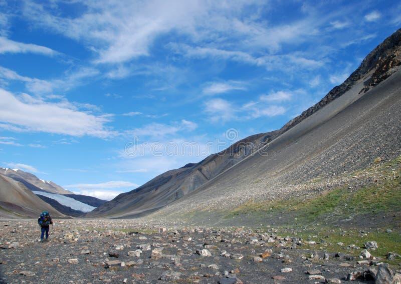 Ellesmere-Insel-Wanderer lizenzfreie stockbilder