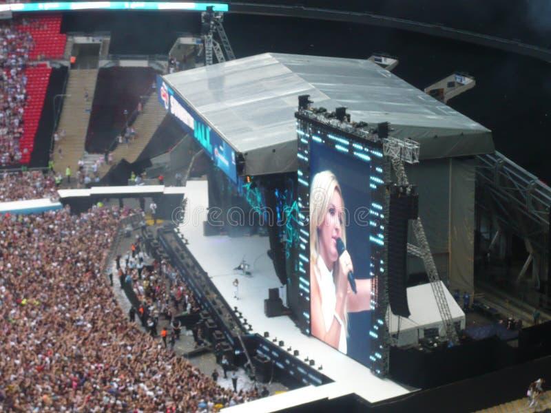 Ellie Goulding σε Wembley στοκ εικόνα