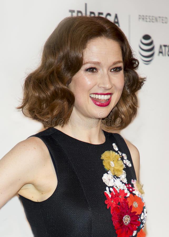 Ellie Kemper. Actress Ellie Kemper arrives for the 2017 Tribeca Film Festival screening of `Unbreakable Kimmy Schmidt,` at the Tribeca Performing Arts royalty free stock image