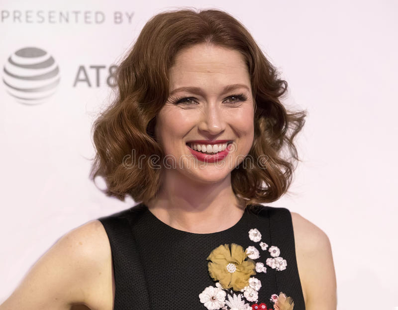 Ellie Kemper. Actress Ellie Kemper arrives for the 2017 Tribeca Film Festival screening of `Unbreakable Kimmy Schmidt,` at the Tribeca Performing Arts stock images