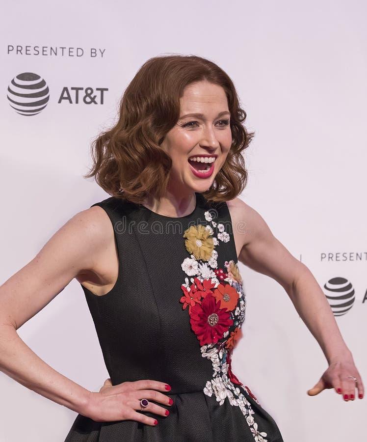 Ellie Kemper en la investigación 2017 del festival de cine de Tribeca del ` irrompible de Kimmy Schmidt del ` imagen de archivo libre de regalías