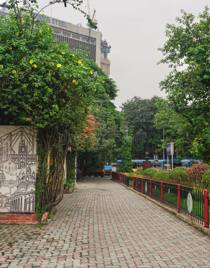 Elliot Park in centraal deel van Calcutta, India stock afbeelding