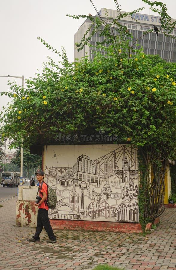 Elliot Park en la parte central de Calcutta, la India fotografía de archivo