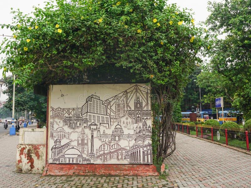 Elliot Park i central del av Calcutta, Indien royaltyfria bilder