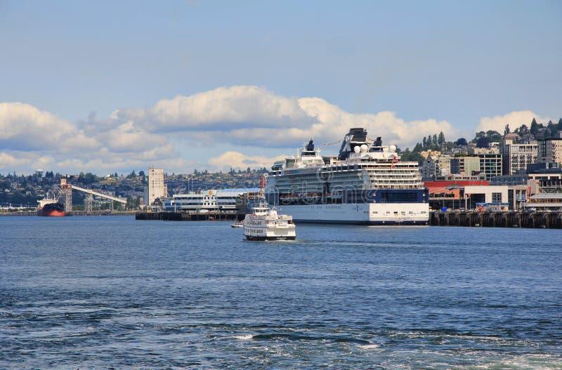 Elliott Bay, Seattle, Washington photographie stock libre de droits