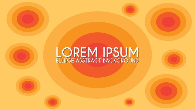 Ellips Abstract sjabloon voor achtergrondontwerp, oranje, rode maroon royalty-vrije illustratie