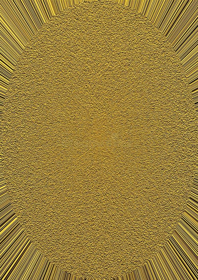 Ellipse grenue d'or sur les rayons d'or illustration libre de droits