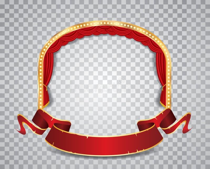 Ellipse rouge de cercle transparente illustration de vecteur