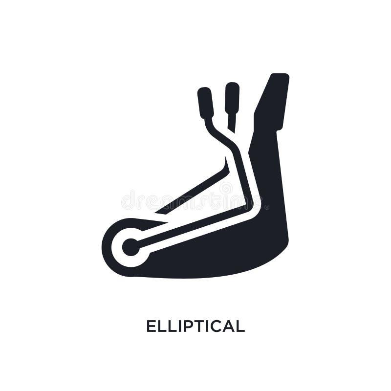 ellipsformig isolerad symbol enkel beståndsdelillustration från symboler för idrottshallutrustningbegrepp ellipsformigt redigerba vektor illustrationer
