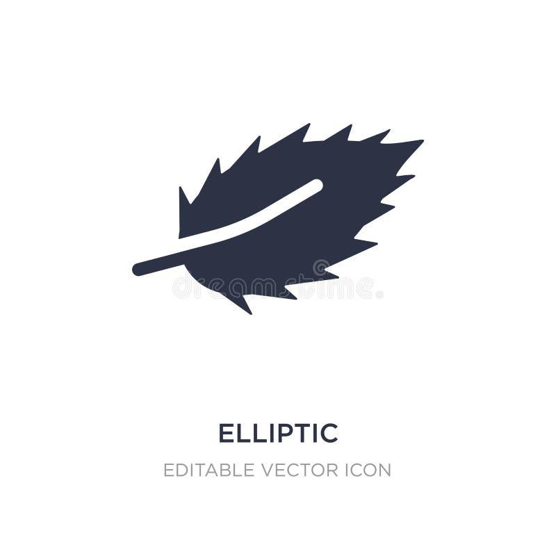 elliptisch pictogram op witte achtergrond Eenvoudige elementenillustratie van Vormenconcept royalty-vrije illustratie