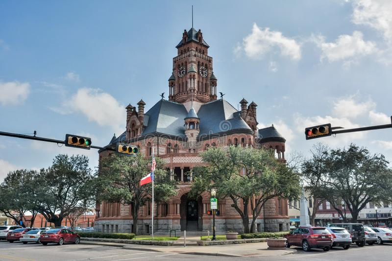 Ellis County Courthouse in Waxahachie, TX. Waxahachie, Texas, United States of America - January 21, 2017. Exterior viewof Ellis County Courthouse in Waxahachie royalty free stock images