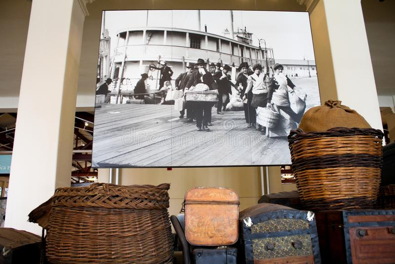 Ellis Island imagens de stock