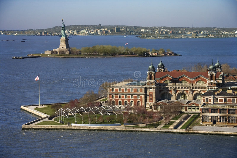 Ellis Island. stockfotografie
