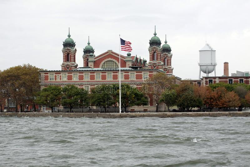 Ellis Island em NYC imagens de stock