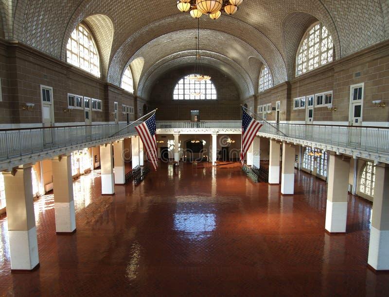 Ellis Island großer Hall lizenzfreie stockfotos