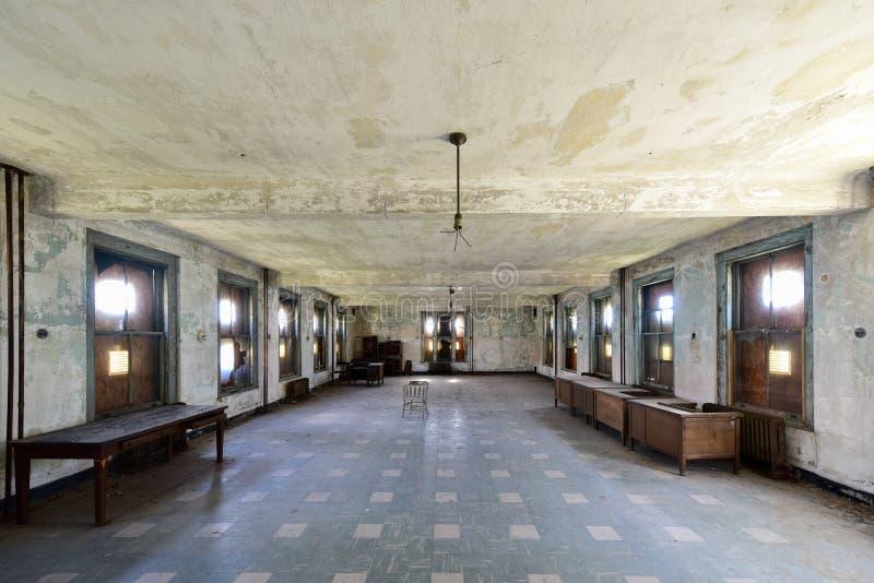 Ellis Island Immigrant Hospital stockfotografie