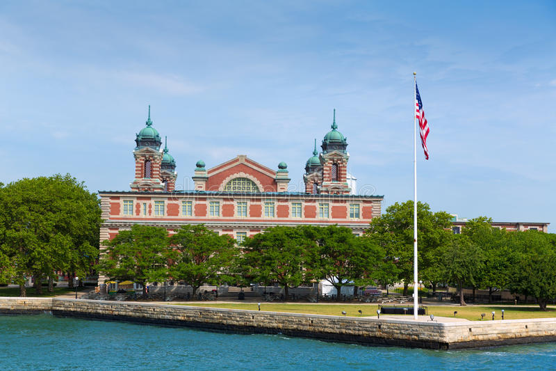 Ellis Island Immigration Museum Jersey-Stadt NY lizenzfreies stockbild