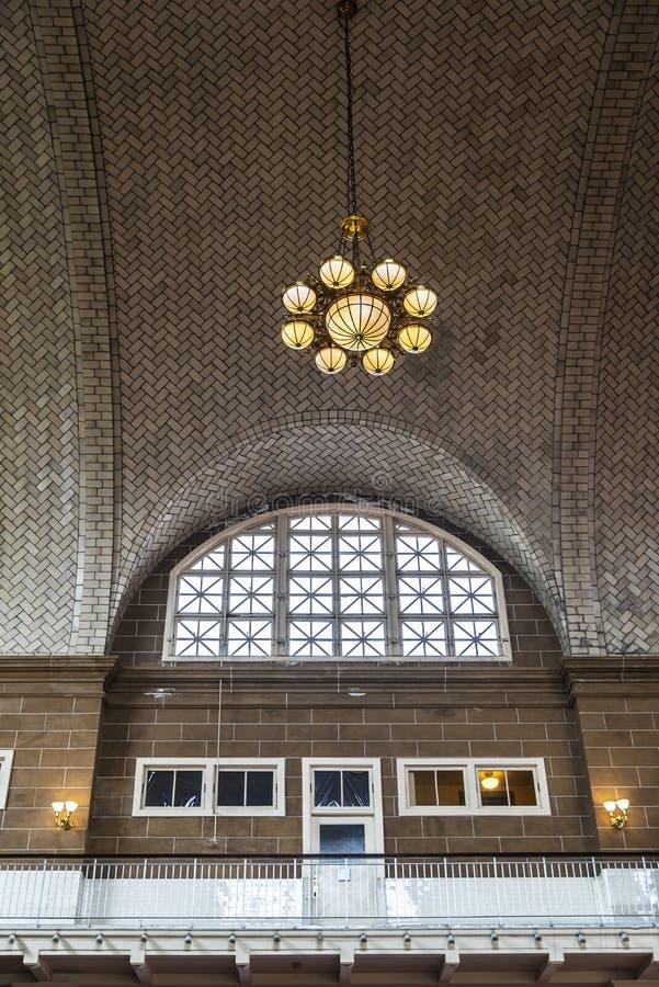 Ellis Island Immigration Station i New York City, USA arkivfoton