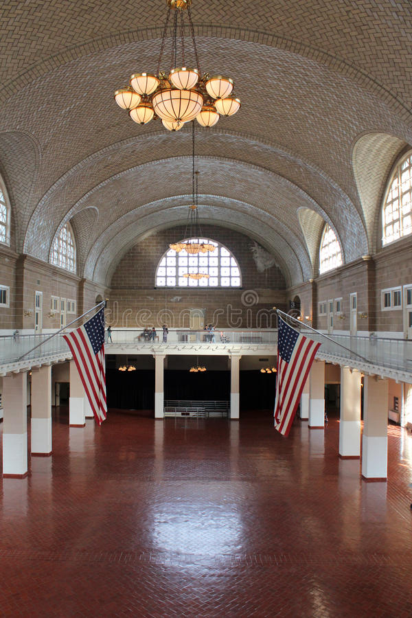 Ellis Island - Innenraum lizenzfreies stockfoto