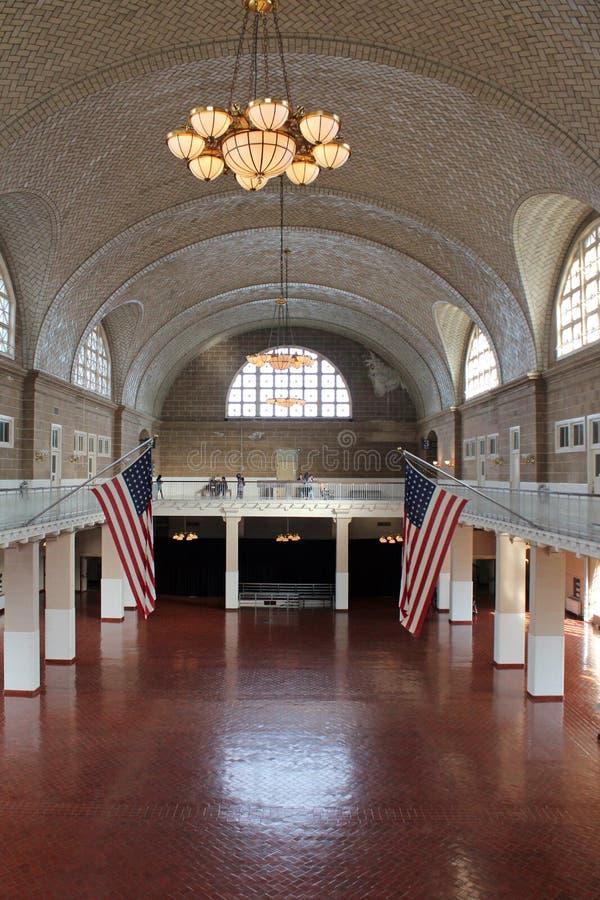 Ellis Island - interior foto de stock royalty free