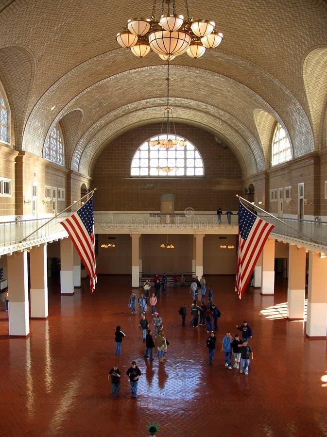 Download Ellis Island main hall stock photo. Image of windows, balcony - 1722370