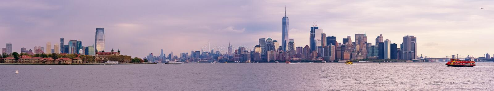 Manhattan skyline panorama, New York City stock images