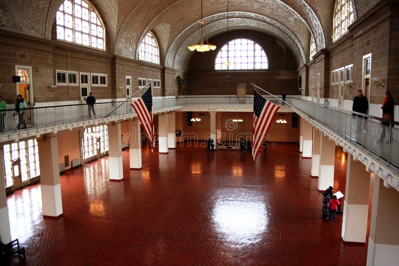 Ellis Island museum, New York stock photography