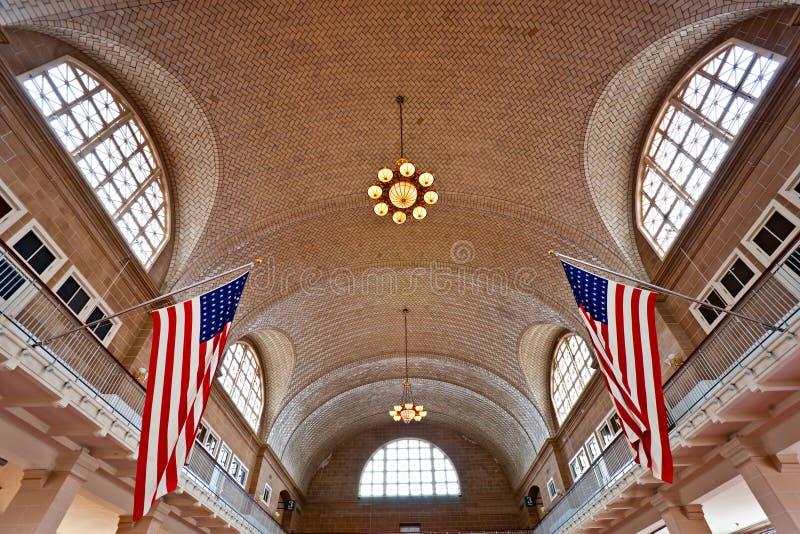 Ellis Island, New York, USA. lizenzfreie stockfotografie