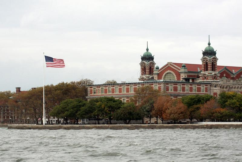 Ellis Island in NYC stockfoto