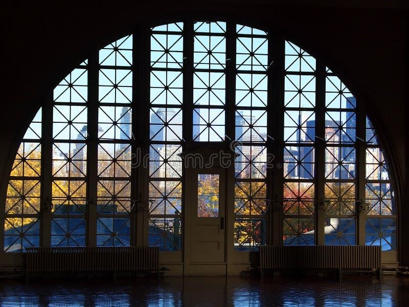 Ellis Islandfenster stockbild