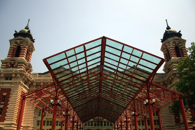 Ellis- Islandhauptgebäude stockfotos