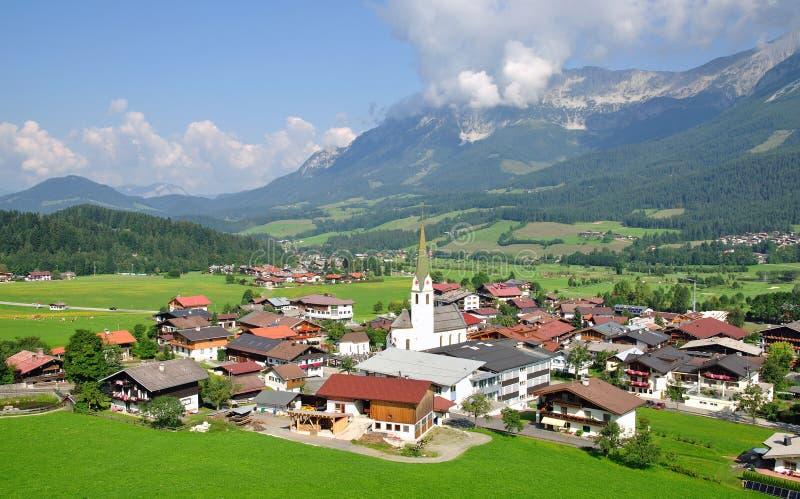Ellmau en el Tyrol, Austria fotografía de archivo