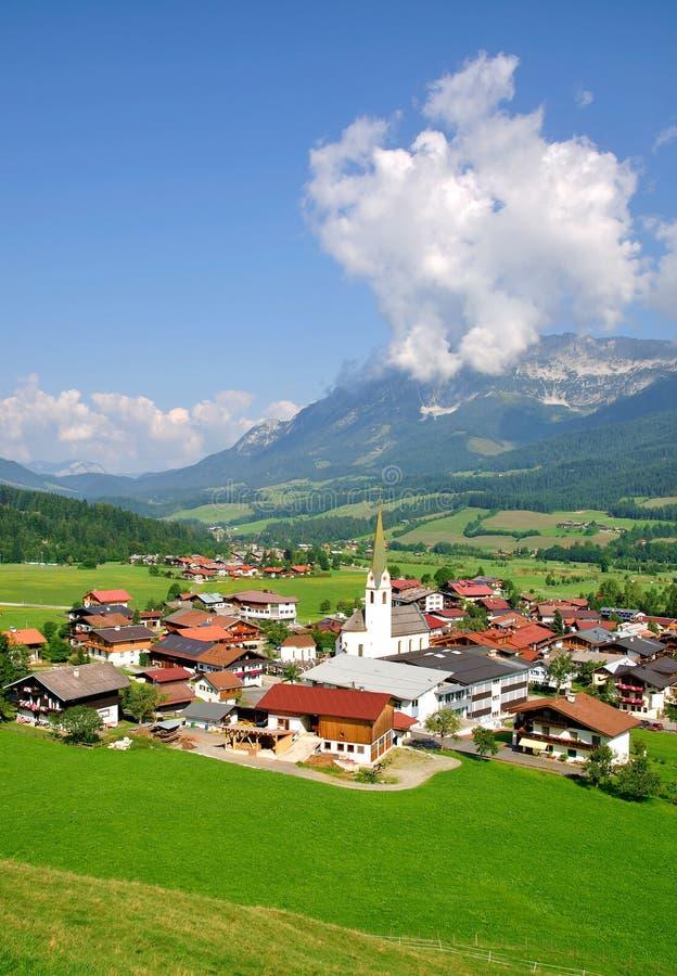 Ellmau in Tirol, Oostenrijk royalty-vrije stock fotografie