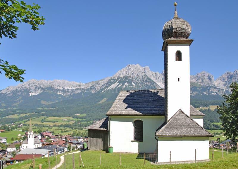 Ellmau, Tirol, Oostenrijk stock fotografie