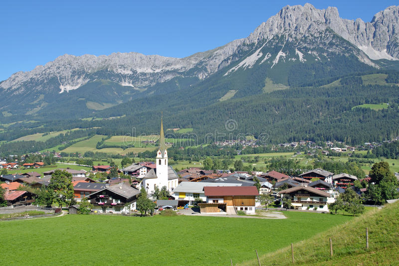 Ellmau, Tirol, Oostenrijk royalty-vrije stock foto's