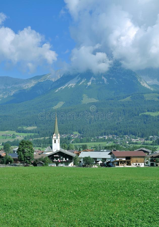 Ellmau, Wilder Kaiser, Tirol, Oostenrijk stock foto