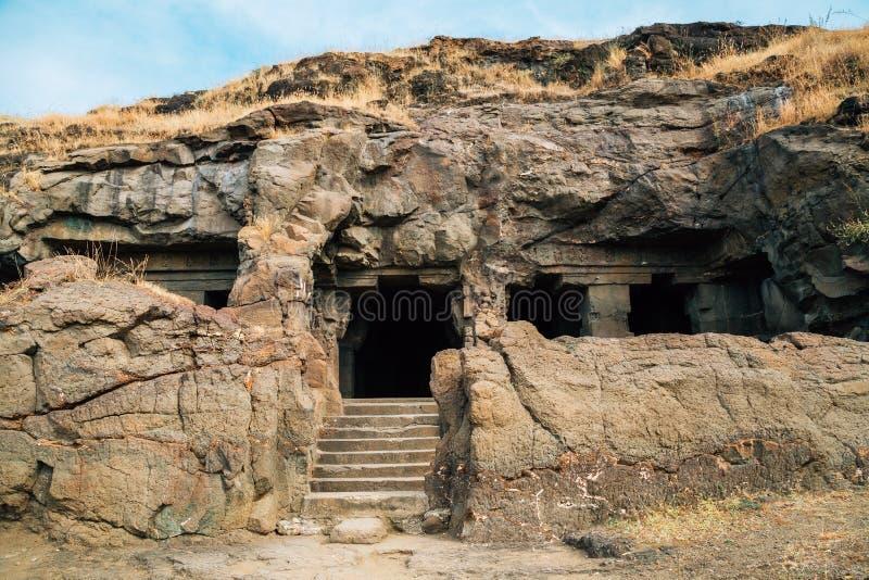 Ellora Caves ancient ruins in India. Ellora Caves ancient ruins in Maharashtra, India royalty free stock photography