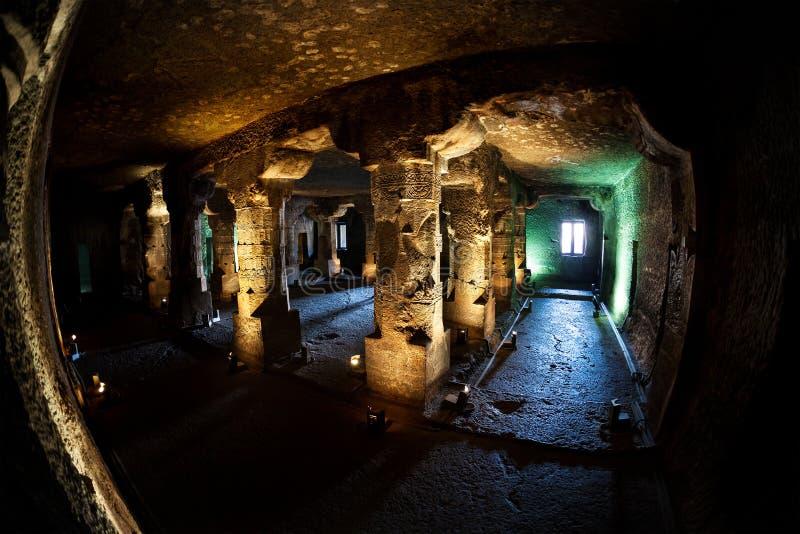 Ellora caves in India stock photos